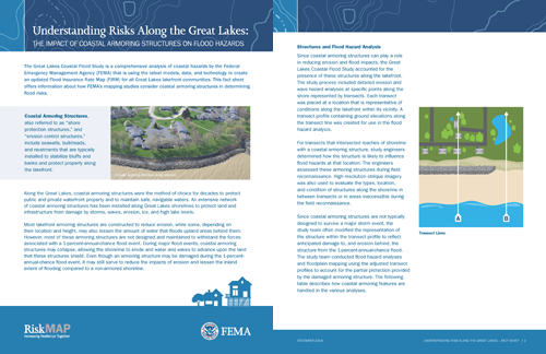 Understanding Risks Along the Great Lakes: The Impact of Coastal Armoring Structures on Flood Hazards Fact Sheet