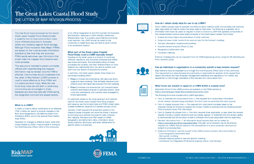 Great Lakes Coastal Flood Study: LOMR Fact Sheet