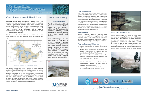 Great Lakes Coastal Flood Study Summary Fact Sheet