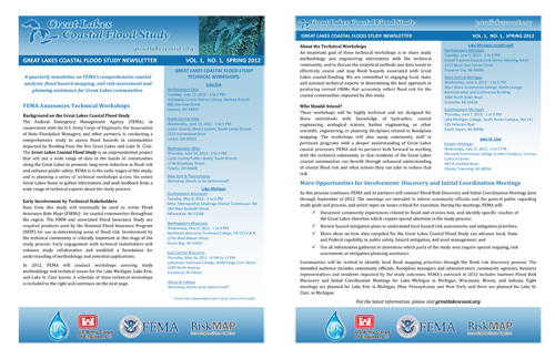 Great Lakes Coastal Flood Study Spring 2012 Newsletter