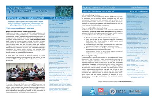 Great Lakes Coastal Flood Study Summer 2012 Newsletter