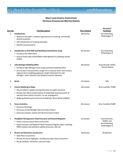 Wisconsin Technical Workshop Agenda